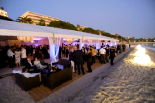 With 700 delegates to cater for, a marque on the beach worked perfectly for Microsoft's EMEA Executive Partner Summit